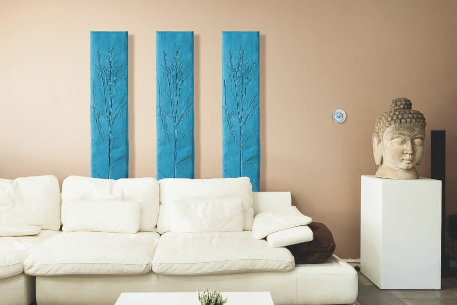 Natura electric radiators provide natural radiant heat in the living room