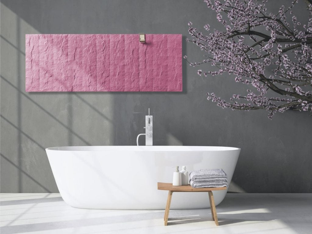 Pietra electric creative radiators with IPX4 rating can be used in the bathroom