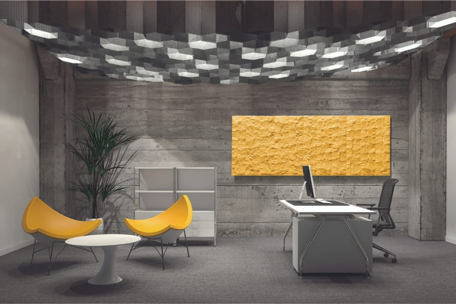 Pietra electric radiator makes a feature piece in an office by Creative Radiators
