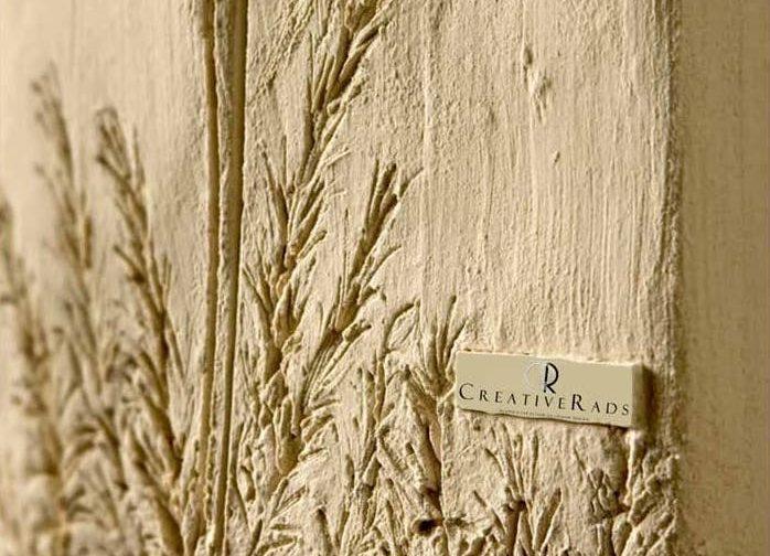 detail LOGO in stone creative radiators