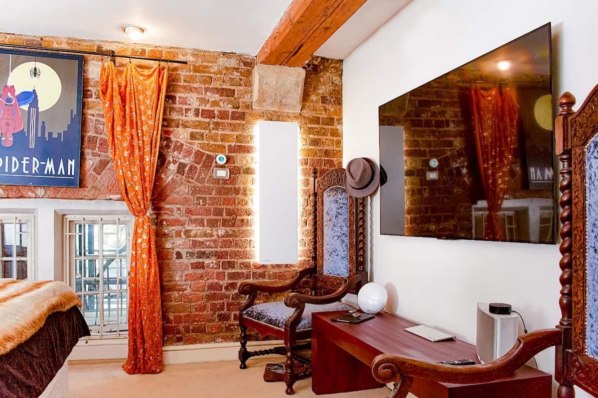 Creative Radiators, designer radiators with lights in a Bedroom