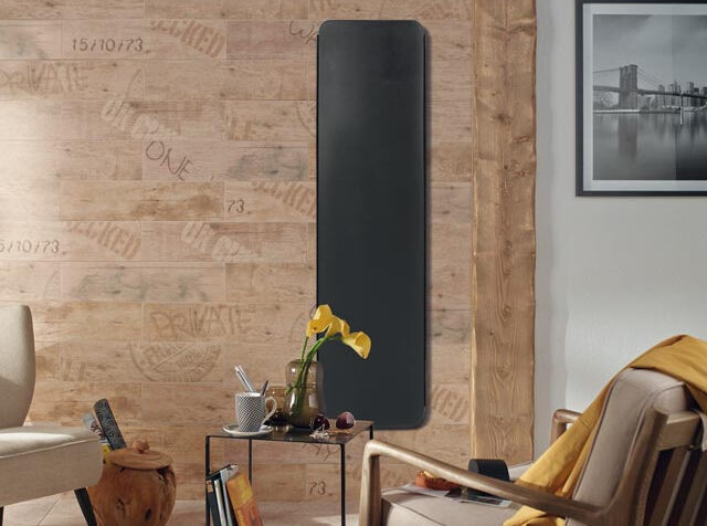 creative radiators curva designer radiators 1250W vertical -black