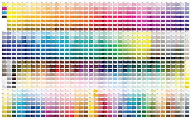pantone-color-chart for radiators