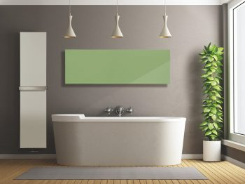 Marmo electric radiators with IPX4 rating can be used in the bathroom